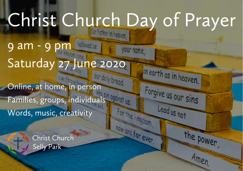 Graphic for Day of Prayer 9 am to 9 pm Saturday 27 June 2020