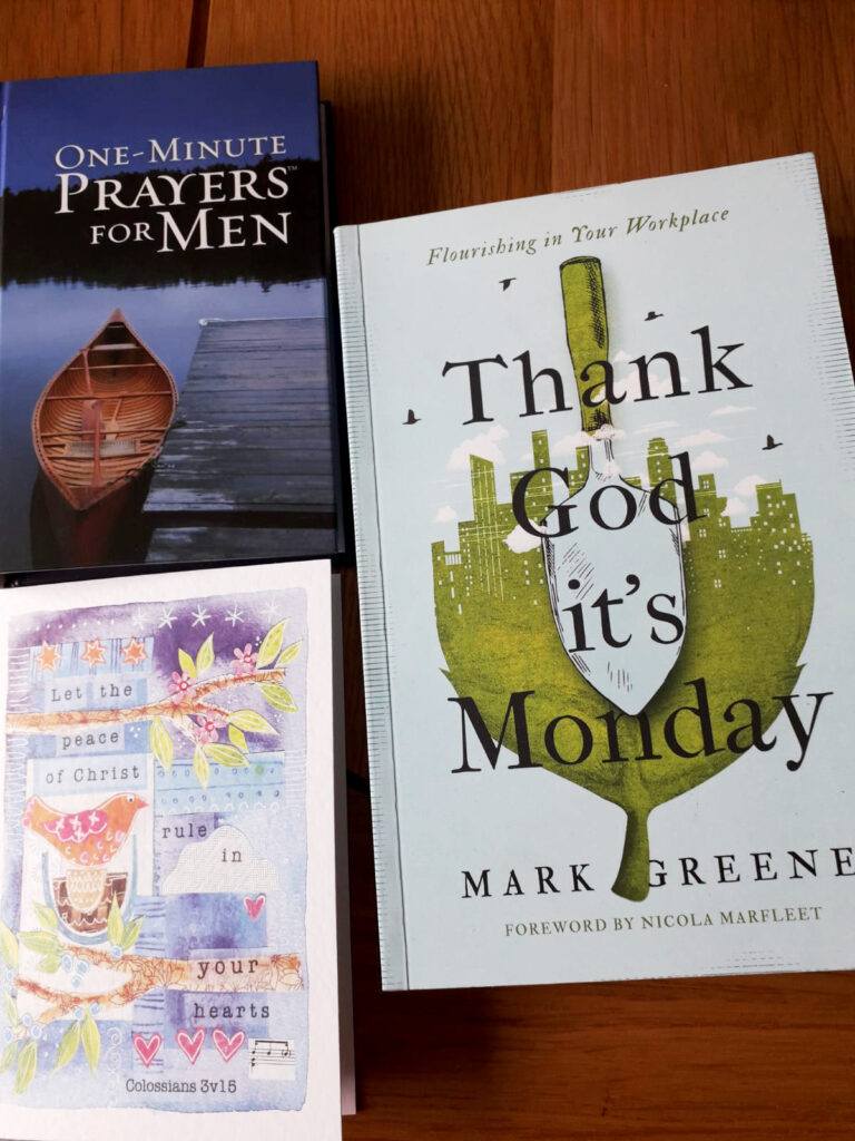 Books given to Daniel as a leaving gift from Christ Church
