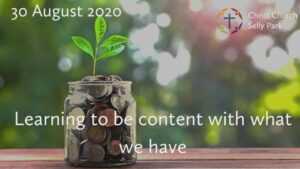 Title graphic: Learning to be content with what we have
