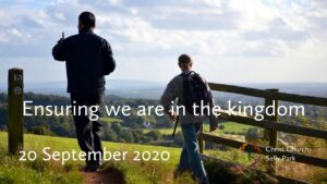 Title graphic: Ensuring we are in the kingdom