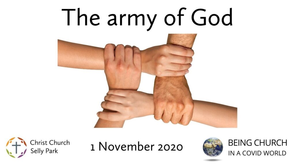 Title graphic: The army of God