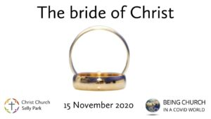 Title graphic: The bride of Christ
