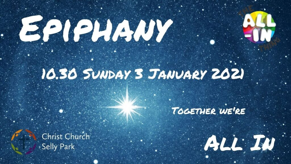 Title graphic: All-In Service for Epiphany 2021