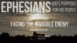 Title graphic for Sunday service 21 March 2021